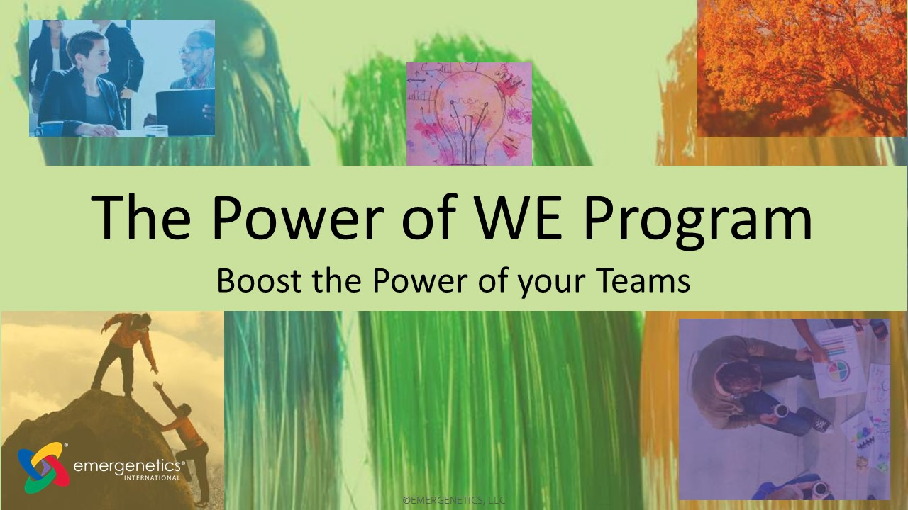 The Power of WE
